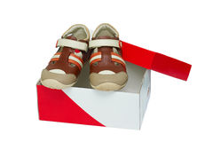 Small color children shoes Royalty Free Stock Images