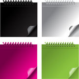 Small color notebook. Black, white, green, pink Stock Photo