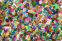 Small color numbers confetti background Royalty Free Stock Photography