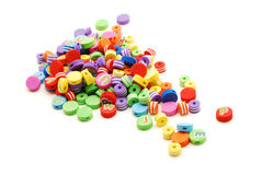 Small colored beads Stock Photos