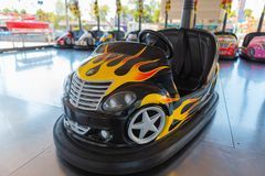 Small colored bumper car for children royalty free stock photography