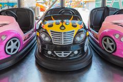 Small colored bumper cars for children royalty free stock images