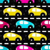 Small colored cars on the road beautiful background Royalty Free Stock Photos