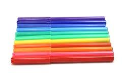 Small colored felt-tip pens Stock Photos