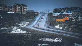 Small colored houses. Nuuk, Greenland. May 2014. Small colored houses in Nuuk, Greenland. May 2014 Stock Image