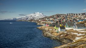 Free Small Colored Houses. Nuuk, Greenland. May 2014 Stock Image - 105613391