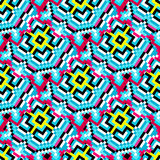 Small colored polygons on a beautiful background seamless pattern Royalty Free Stock Images
