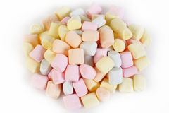 Small colored puffy marshmallows Royalty Free Stock Photography