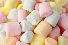 Small colored puffy marshmallows Stock Photography