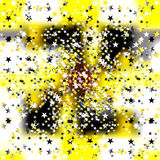 Small colored stars on a yellow background Stock Photos
