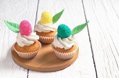 Small colorful cakes Royalty Free Stock Images