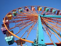 Small Colorful Collapsable Ferris Wheel Royalty Free Stock Images