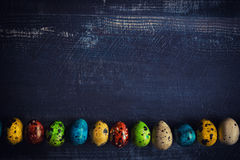 Small and colorful eggs Stock Photography