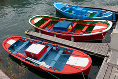 Small Colorful Fishing Boats Stock Photos
