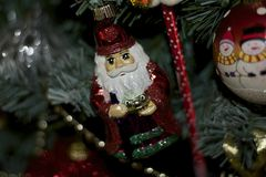 Small colorful glowing santa claus Royalty Free Stock Image