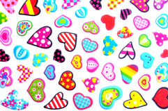 Small colorful hearts Royalty Free Stock Images