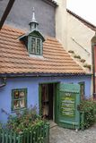 The Golden Lane, Prague Castle. Small colorful house in the Golden Lane in Prague Castle in the Czech Republic. Franz Kafka once lived here - although it has stock image