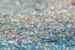 Small colorful pebble Royalty Free Stock Image