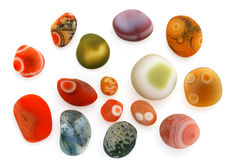 Small colorful pebbles Royalty Free Stock Photos