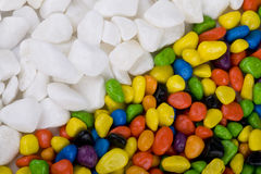 Small colorful pebbles Stock Images