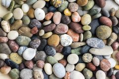 Small colorful pebbles background, simplicity, daylight, stones. Small colorful pebbles background, simplicity, stone in daylight, various colors Stock Photography