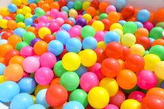 Free Small Colorful Plastic Balls In Playground Yard Stock Photography - 183300432