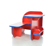 Small and colorful table desk for little child kids Royalty Free Stock Photos