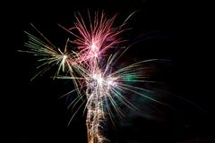 Small colorfull fireworks Royalty Free Stock Image