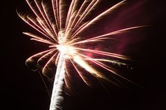 Small colorfull fireworks with smoke Royalty Free Stock Photo