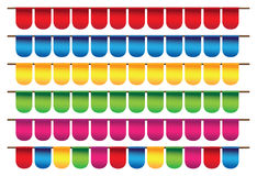 Small colors flags Stock Photo