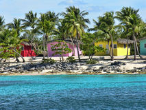 Small and Coloured Homes. On the Coast of Santo Domingo, Dominican Republic royalty free stock photos