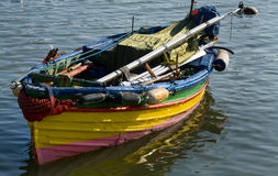 Small Colourful Boat Royalty Free Stock Photography