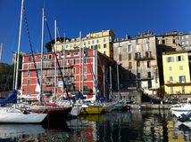 Small colourful Italian harbour Stock Image