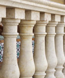 Small columns design along verandah at shallow DOF Stock Image