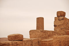 Small columns at Kerak castle Stock Photography