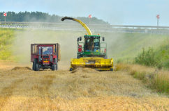 Small combine harvester Royalty Free Stock Photo