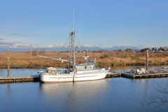 Small Commercial Fishing Boat Stock Photo