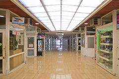 A small commercial shopping arcade off Rue de Sebastopol at Noumea Royalty Free Stock Images