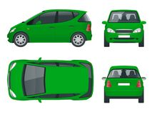 Small Compact Electric vehicle or hybrid car. Eco-friendly hi-tech auto.  Stock Photography