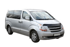Small compact minivan. Separately on a white background Royalty Free Stock Image