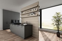 Small compact modern kitchenette Stock Photo