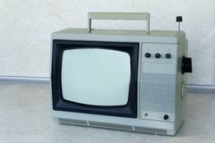 A small compact TV, outdated model Royalty Free Stock Photo