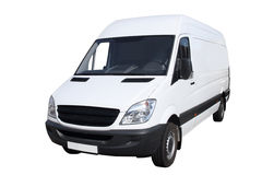 Small compact van. Separately on a white background Royalty Free Stock Images