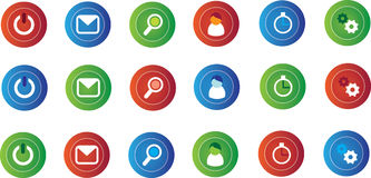 Small computer icons Stock Photo