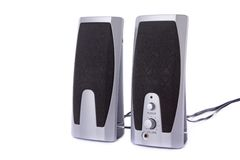 Small computer speakers royalty free stock photo