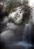 Small concealed hot waterfall, Stock Photo