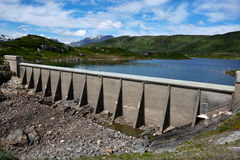 Small concrete dam in norway Stock Image
