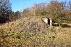 Small concrete military bunker . World War II. Slovak Republic Stock Image