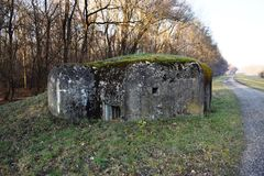 Small concrete military bunker . World War II. Slovak Republic Royalty Free Stock Photography