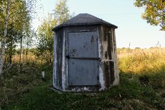 A small concrete structure for servicing the gas main Stock Images
